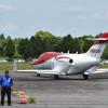 熊本の400人魅了 写真特集・ホンダジェットのデモ飛行