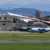 MRJ、4号機が初飛行 名古屋から試験空域へ