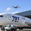 ANA、ドローンで被雷点検 伊丹で787使い検証