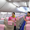 タカガールで女性客獲得へ 写真特集・スカイマーク、タカガールジェット就航