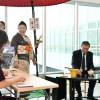 スターフライヤー、北九州空港で抹茶ふるまう 松石社長「心が落ち着く」