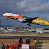 ANAの東京五輪塗装機HELLO 2020 JET、伊丹離陸 29日から国内線