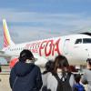 FDA、仙台で白い12号機 4月就航でお披露目
