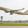 A350超長距離型が初飛行 シンガポール航空が18年後半就航へ