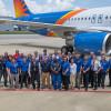 アレジアント航空、米国製A320受領 同社向け初号機