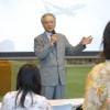 スカイマーク市江社長、関西大で講義「華やかさの裏に大変さある」