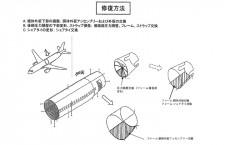 尻もち事故のJA8384、羽田で修理実施