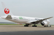 JAL、特別塗装機で地球温暖化対策PR 777にSDGsロゴ