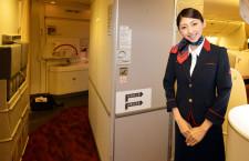 日航、新国際線機「スカイスイート 777」の機内公開 1月9日ロンドン線就航