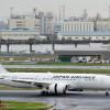 JALの787、試験飛行終え羽田到着