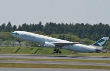 キャセイパシフィック航空、成田-香港4月増便 木曜のみ、1日最大7往復に