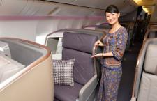 ビジネスは長さ198センチのベッドに 写真特集・シンガポール航空777-300ER新シート(2)