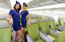 スカイマーク、A330とグリーンシートお披露目 西久保社長「広いシートを安く」