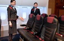 JAL、すべらない本革シート国内線投入 写真で見る新シート