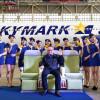 スカイマーク、A330とグリーンシート国内初披露 西久保社長「シートも注目して」