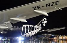 ニュージーランド航空の787-9ロールアウト 5機追加購入検討、成田11月就航へ