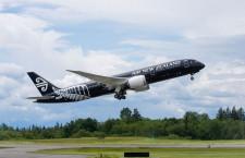 ニュージーランド航空の787-9、シアトルで初飛行