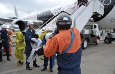 成田空港、航空機事故訓練 学生が「負傷メーク」