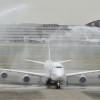 ルフトハンザ、747-8を日本初就航 羽田に到着