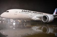 JAL、787新仕様機が成田到着 ビジネスがフルフラットに