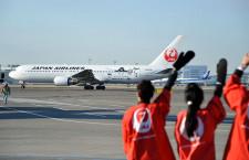 JAL、Suicaペンギン特別塗装機 羽田路線で9月まで