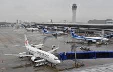 お盆の国内線旅客、台風で微減 国際線は前年やや上回る