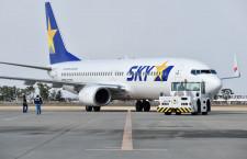 スカイマーク、国内線86%減便続く 6空港は全便運休