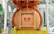 川崎重工、4-12月期最終赤字139億円 通期予想は上方修正