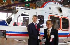 ベルヘリコプター、西日本空輸に412EP納入 東京事務所初