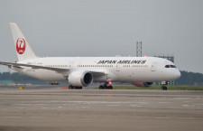 夕暮れの成田へ到着 写真特集・JALの787-9(到着編)
