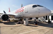 ボンバルディア、Cシリーズ初号機納入 CS100、スイス航空に