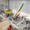エチオピア航空のA350初号機、組立開始 16年アフリカ初導入