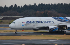 マレーシア航空のA380、FCバルセロナ選手乗せ成田出発