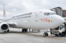 新うちなーの翼、曇天の那覇に 写真特集・JTAの737-800初号機到着