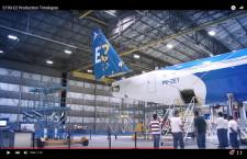 エンブラエル、E190-E2のタイムラプス動画公開