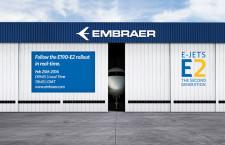 エンブラエル、E190-E2のロールアウト生中継 25日22時から