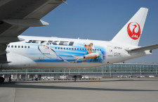 JAL、錦織選手の特別塗装機「JET-KEI」 長距離国際線に
