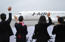 ジェイエアのE190、伊丹出発 鹿児島線に1日4往復