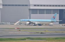 大韓航空の777、主脚の車軸折損 6月、成田で重大インシデント