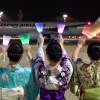 JAL、ペンライトでホノルル便見送り 深夜の羽田出発