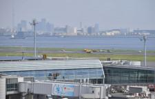 羽田空港、運用再開 ハワイアン機緊急着陸
