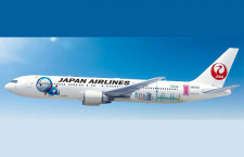 JAL、ドラえもんの特別塗装機 9月から中国路線
