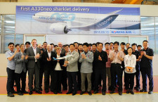 大韓航空、A330neoシャークレット納入開始