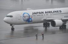 JAL、ドラえもんジェット就航 雨の羽田から上海へ、訪日客の利用誘う