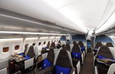 ハワイアン航空、新ビジネスクラスお披露目 12月から成田-ホノルル線