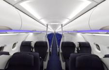 近距離ビジネスも電動シート 写真特集・ANA A320neo初号機(前編)