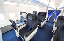 大型機並み装備のビジネスクラス 写真特集・ANA A320neo初号機就航(1)