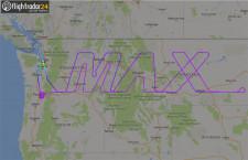737 MAX、米国上空で「MAX」描く 9時間の試験飛行