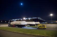 エアバス、ベルーガXLの大型部品到着 仏トゥールーズ工場
