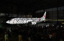 JTA、737にプロジェクションマッピング 「オープラス」アフターパーティー
